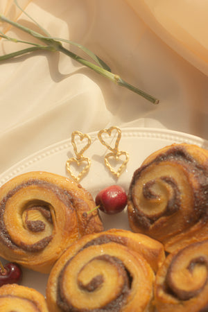 Duo Heart Wiggle Earrings - Sugar + Style