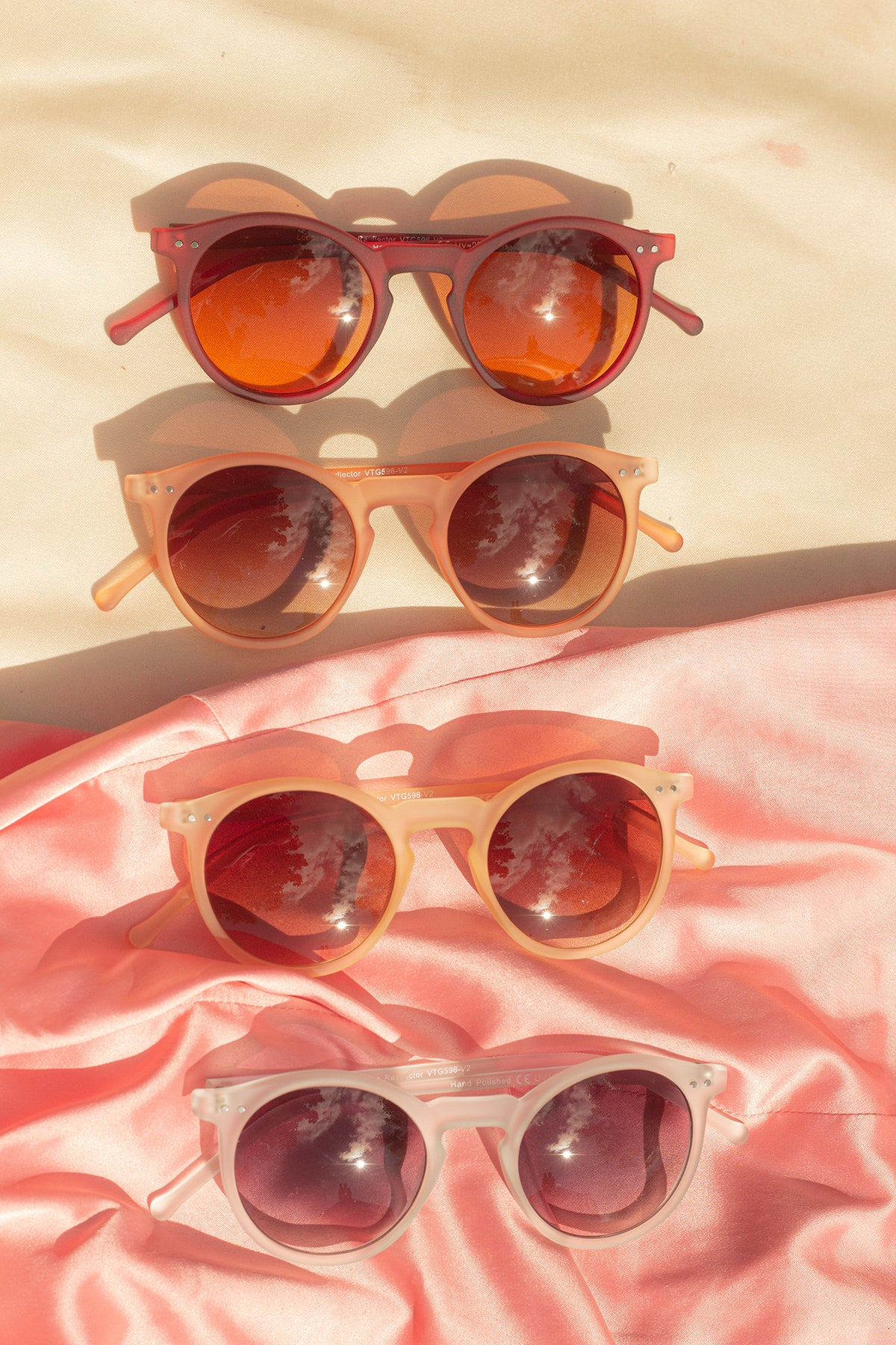 Matte Contemporary Round Sunglasses - Sugar + Style