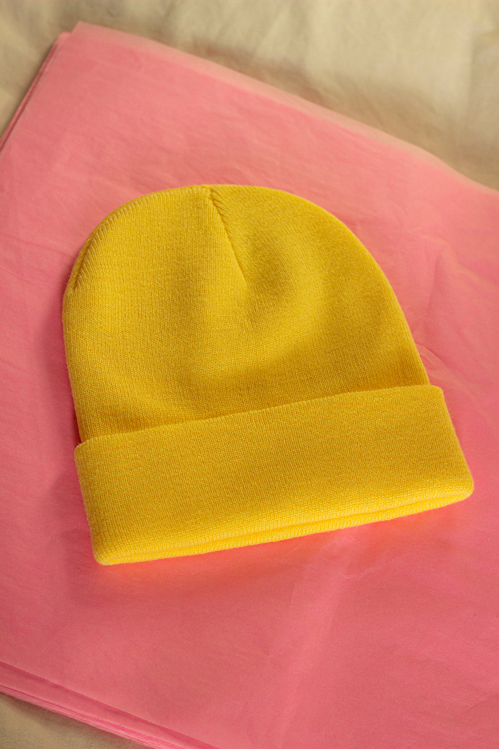 Lemon Yellow Beanie Hat - Sugar + Style