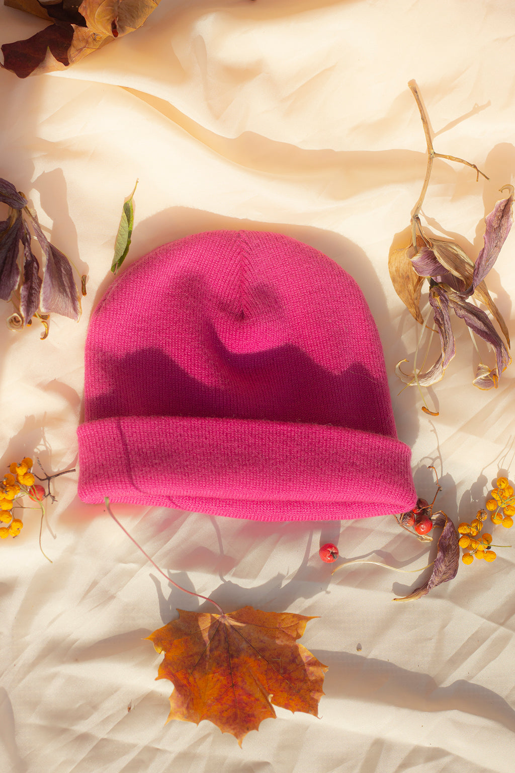 Fisherman Style Hot Pink Beanie Hat - Sugar + Style