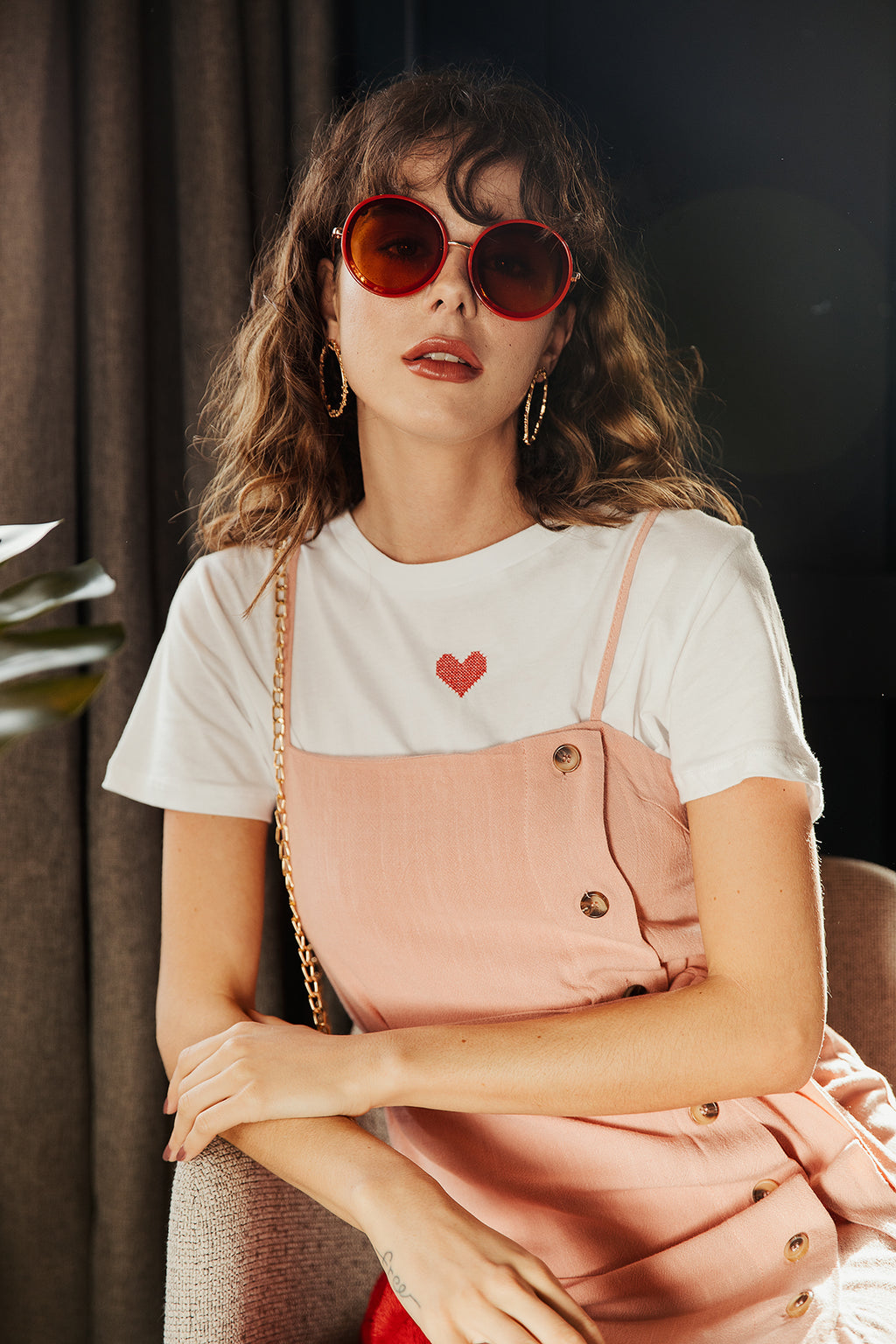 Cross Stitch Heart Tee - Sugar + Style