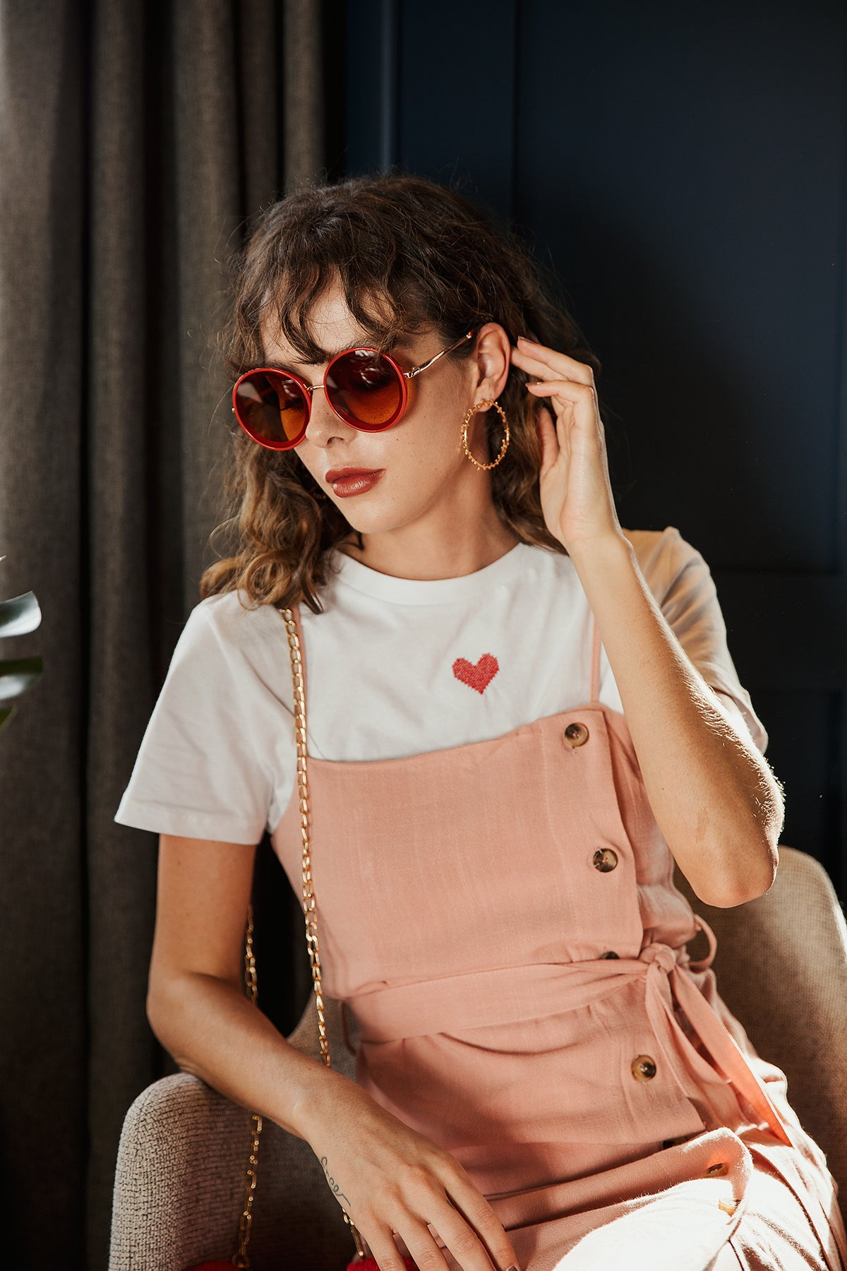Oversized Circle Sunglasses - Sugar + Style