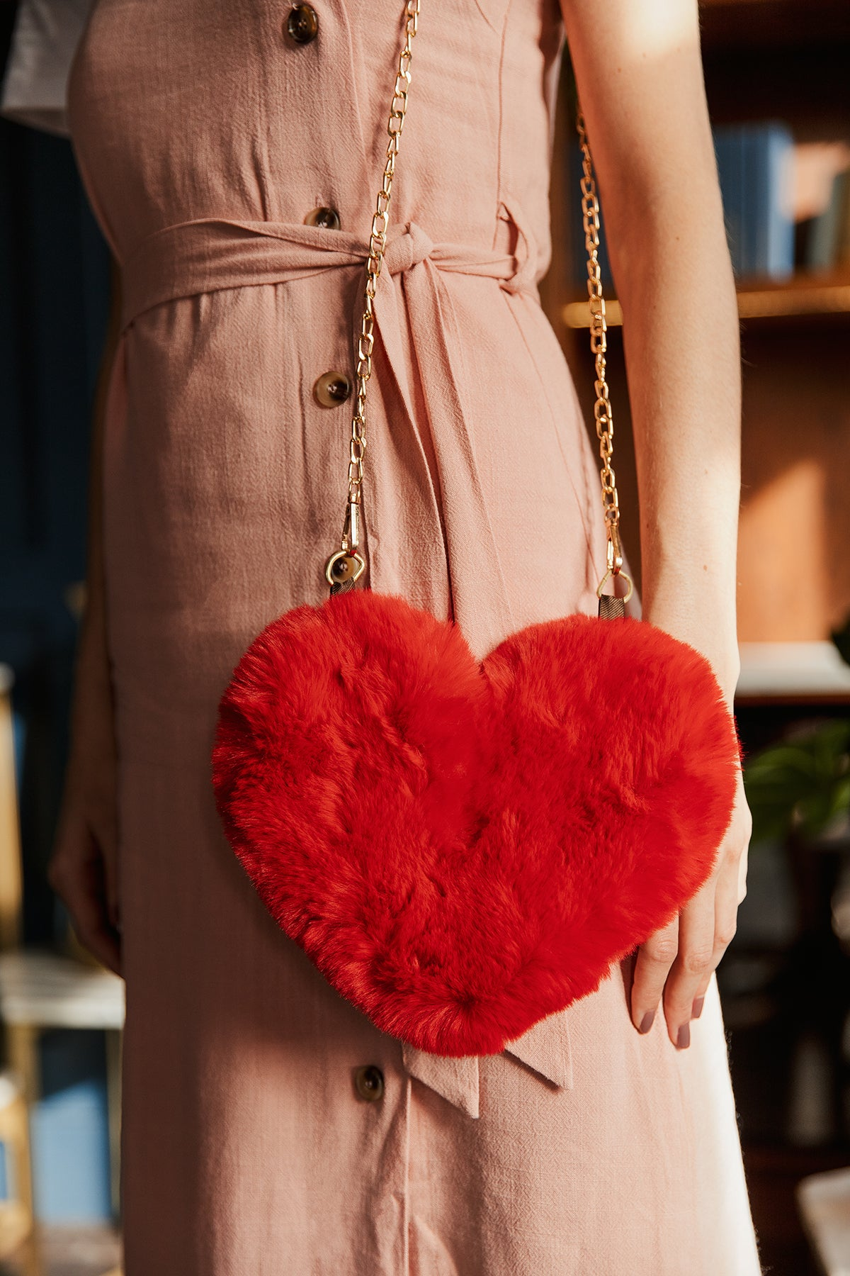 Fluffy Heart Bag - Sugar + Style