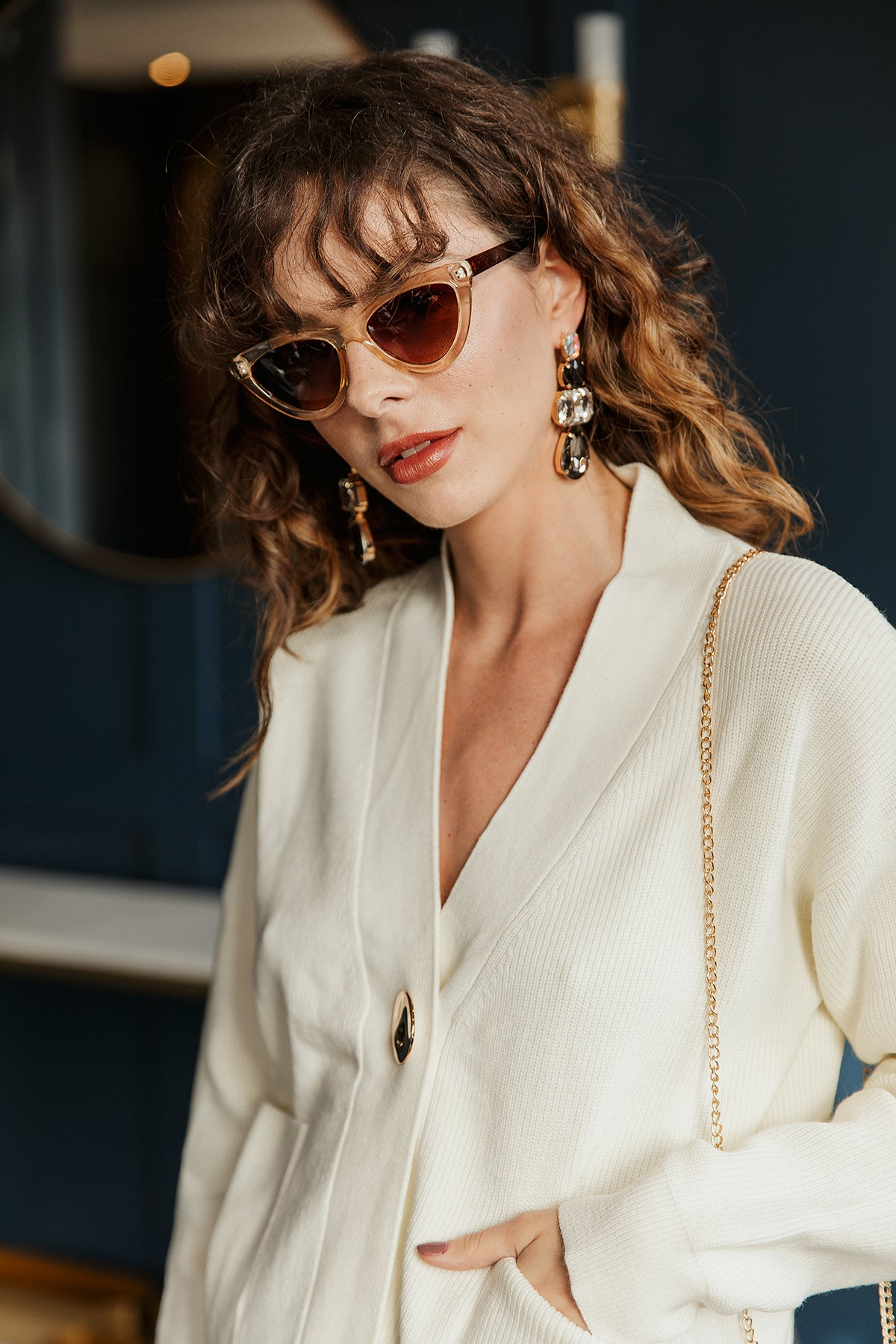 Deep Mini Cat Eye Sunglasses - Sugar + Style