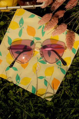 Wide Wire Cat Eye Sunglasses - Sugar + Style
