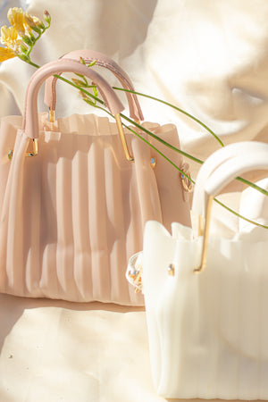Pleated Crossbody Bag - Sugar + Style