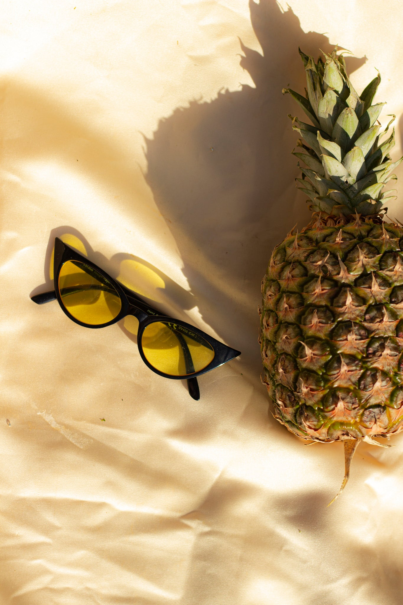 Black Cat Eye Yellow Tint Sunglasses - Sugar + Style