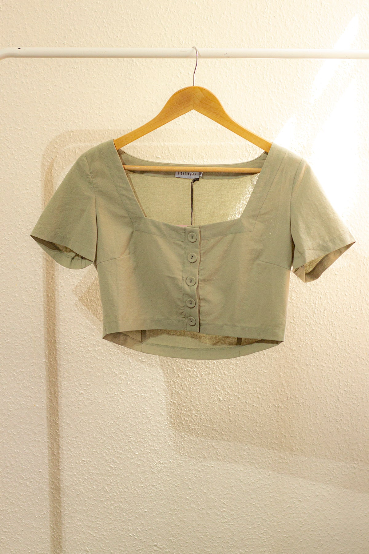 Button Front Milkmaid Blouse - Sugar + Style