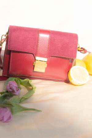 Suede Duo Texture Bag - Sugar + Style