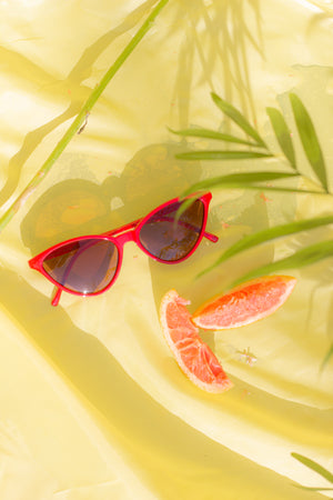 Delicate Rim Cat Eye Sunglasses - Sugar + Style