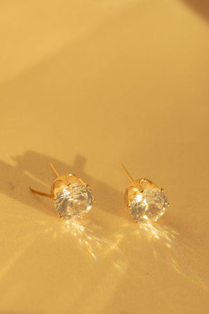 Mini Rhinestone Stud Earrings - Sugar + Style