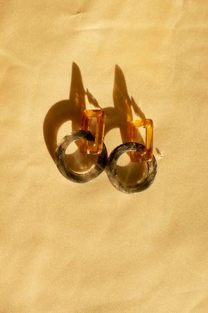 Thick Shape Loop Earrings - Sugar + Style