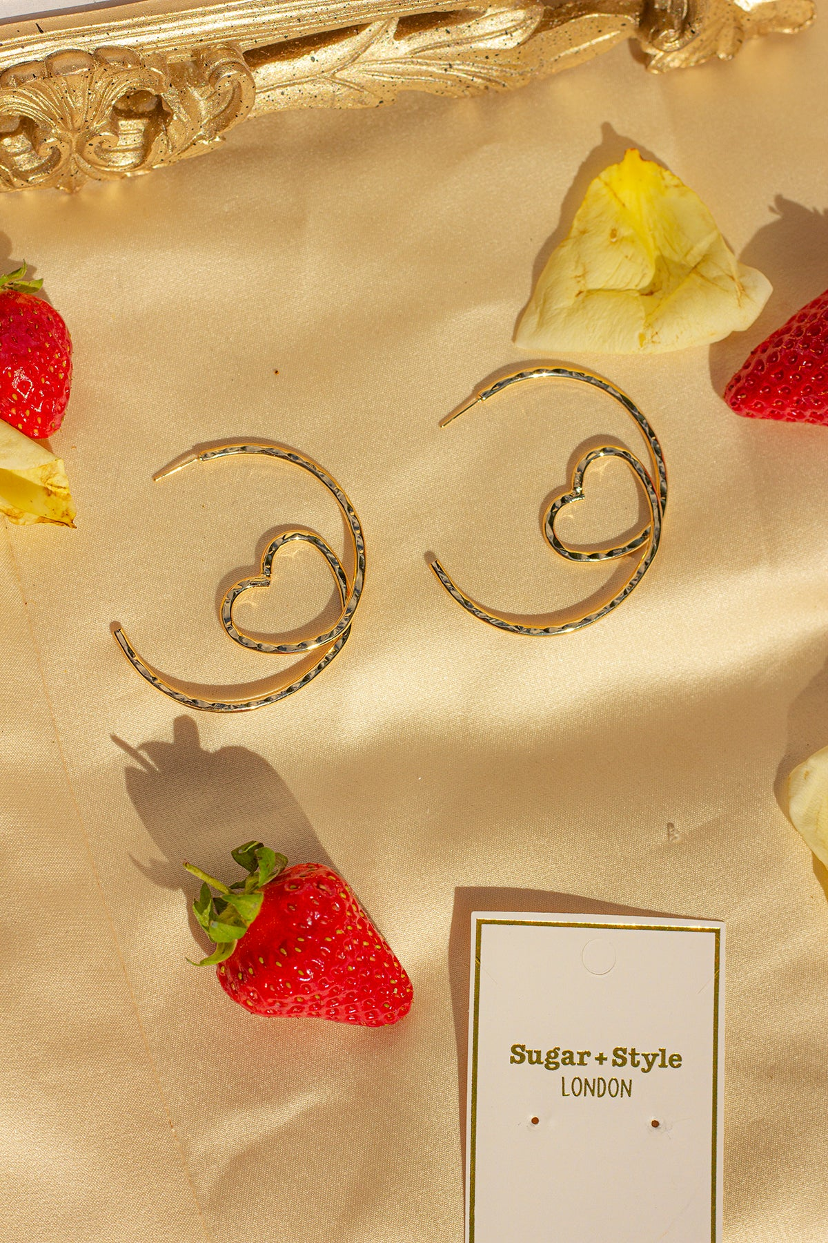 Loop Heart Hoop Earrings - Sugar + Style