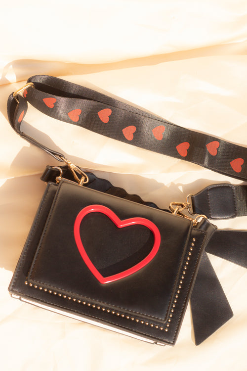 Heart Cut Out Side Satchel