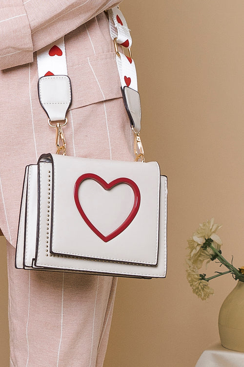 Heart Cut Out Side Satchel Bag