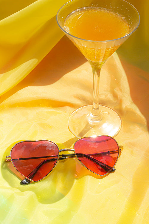 Heart Wire Frame Sunglasses