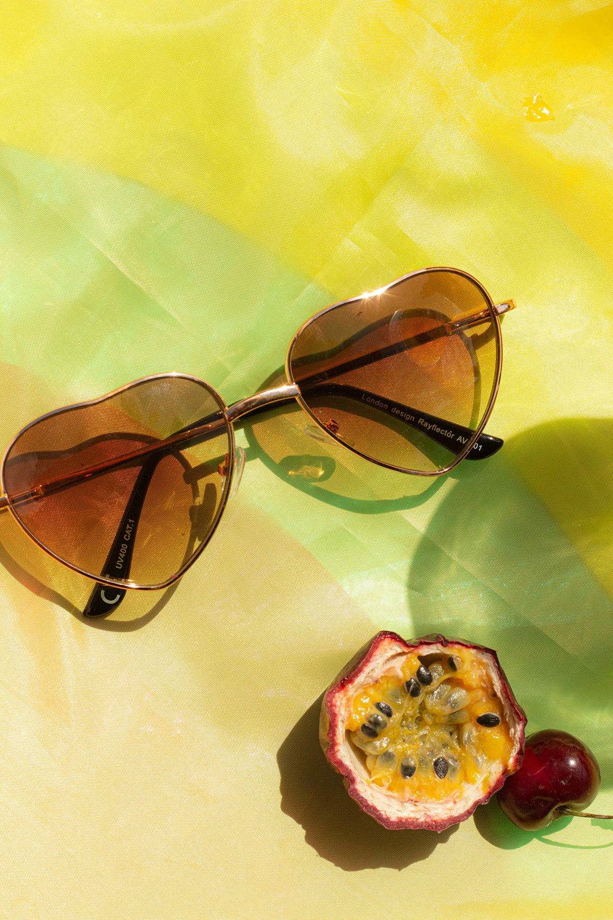 Heart Wire Frame Sunglasses - Sugar + Style