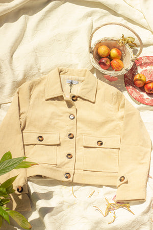 Cropped Corduroy Worker Jacket - Sugar + Style