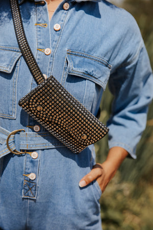 Studded Metal Belt Bag - Sugar + Style