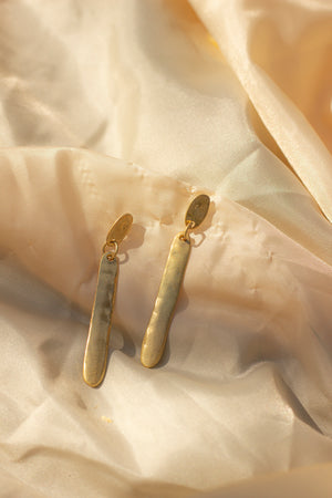 Two Layer Gold Drop Earrings - Sugar + Style