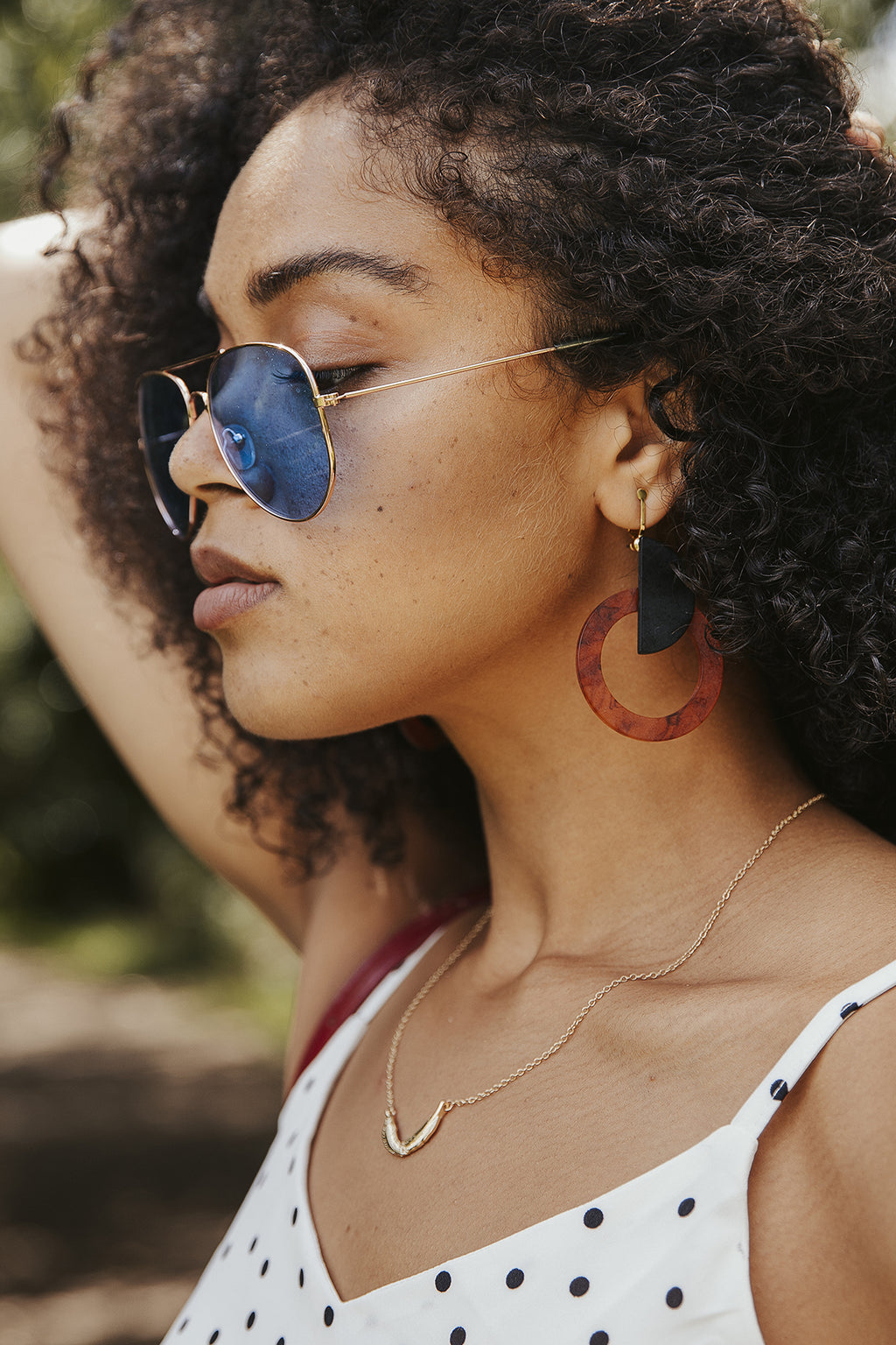 Tortoise Shell Geometric Layer Earrings - Sugar + Style