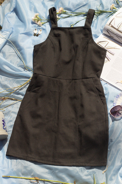 Open Back Overall Style Dress