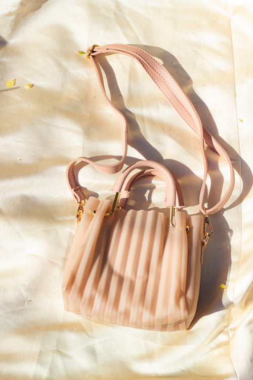 Pleated Crossbody Bag