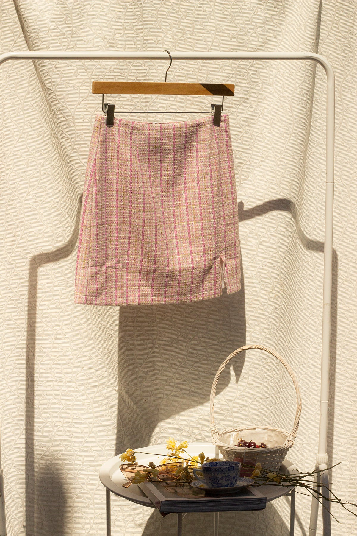 Pink Tweed Skirt - Sugar + Style