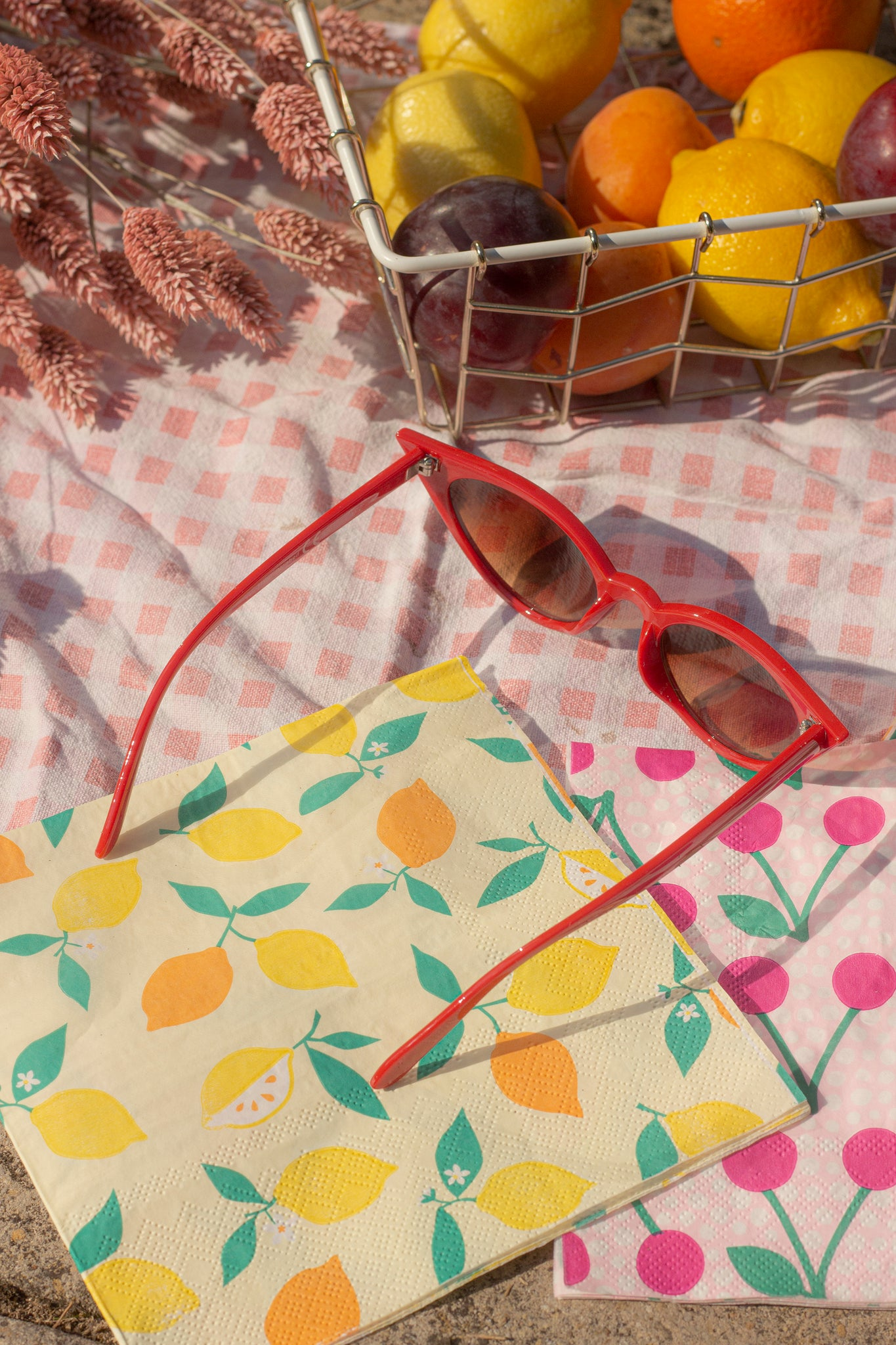 Red Classic Cat Eye Sunglasses - Sugar + Style