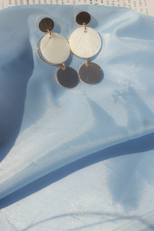 Trio Layered Circle Dangle Earrings - Sugar + Style
