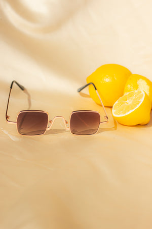 Square Wire Frame Sunglasses - Sugar + Style