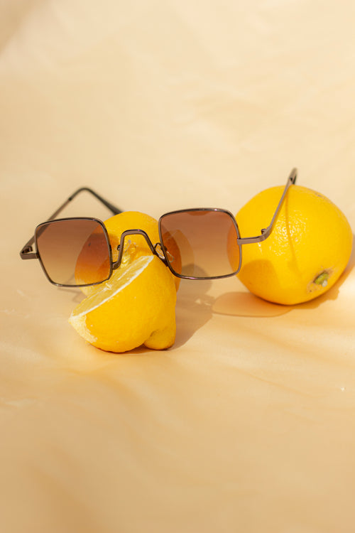Square Wire Frame Sunglasses