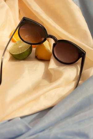 Cat Eye Sunglasses with Brow Line - Sugar + Style