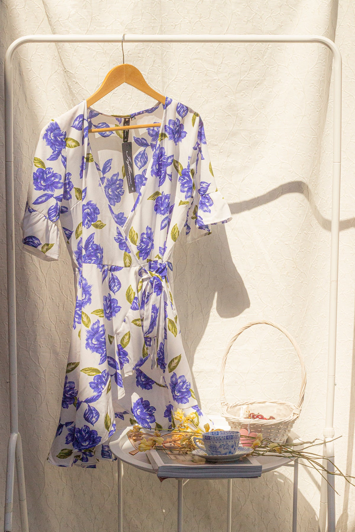 Blue Rose Tea Dress - Sugar + Style
