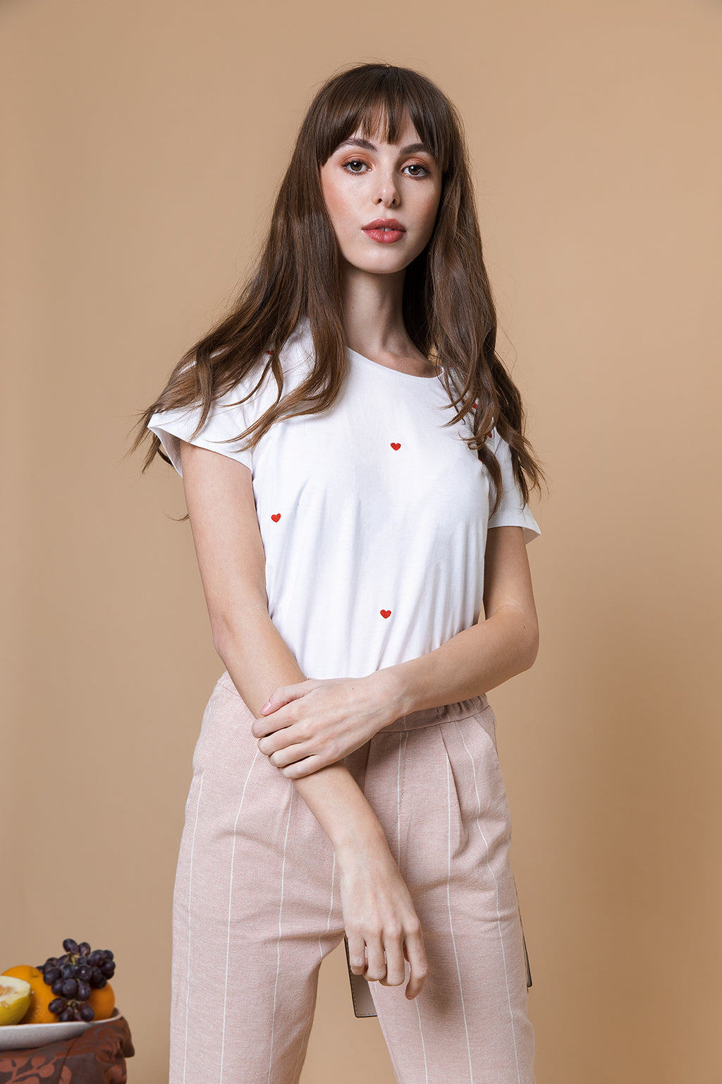 Heart Embroidery Tee - Sugar + Style