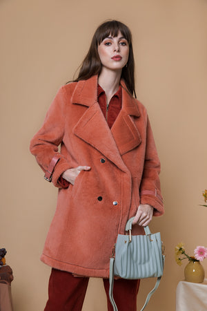 Brushed  Double Faced Coat - Sugar + Style