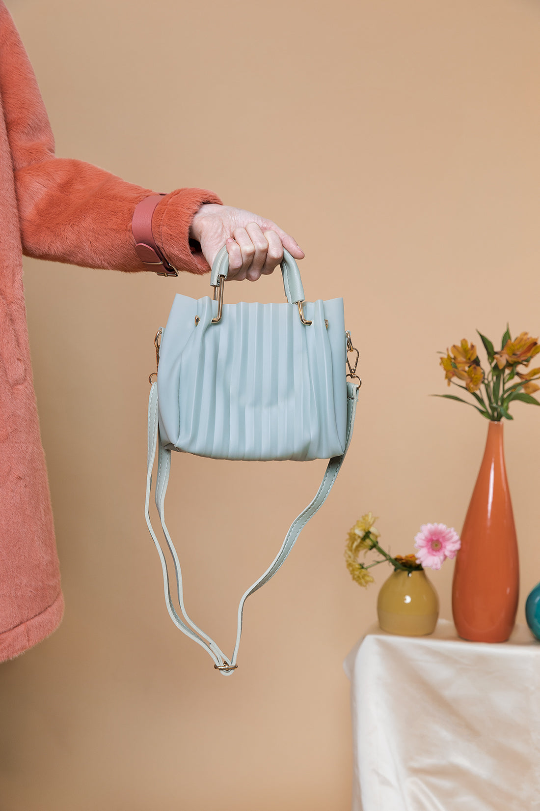 Pleated Jelly Crossbody Bag - Sugar + Style
