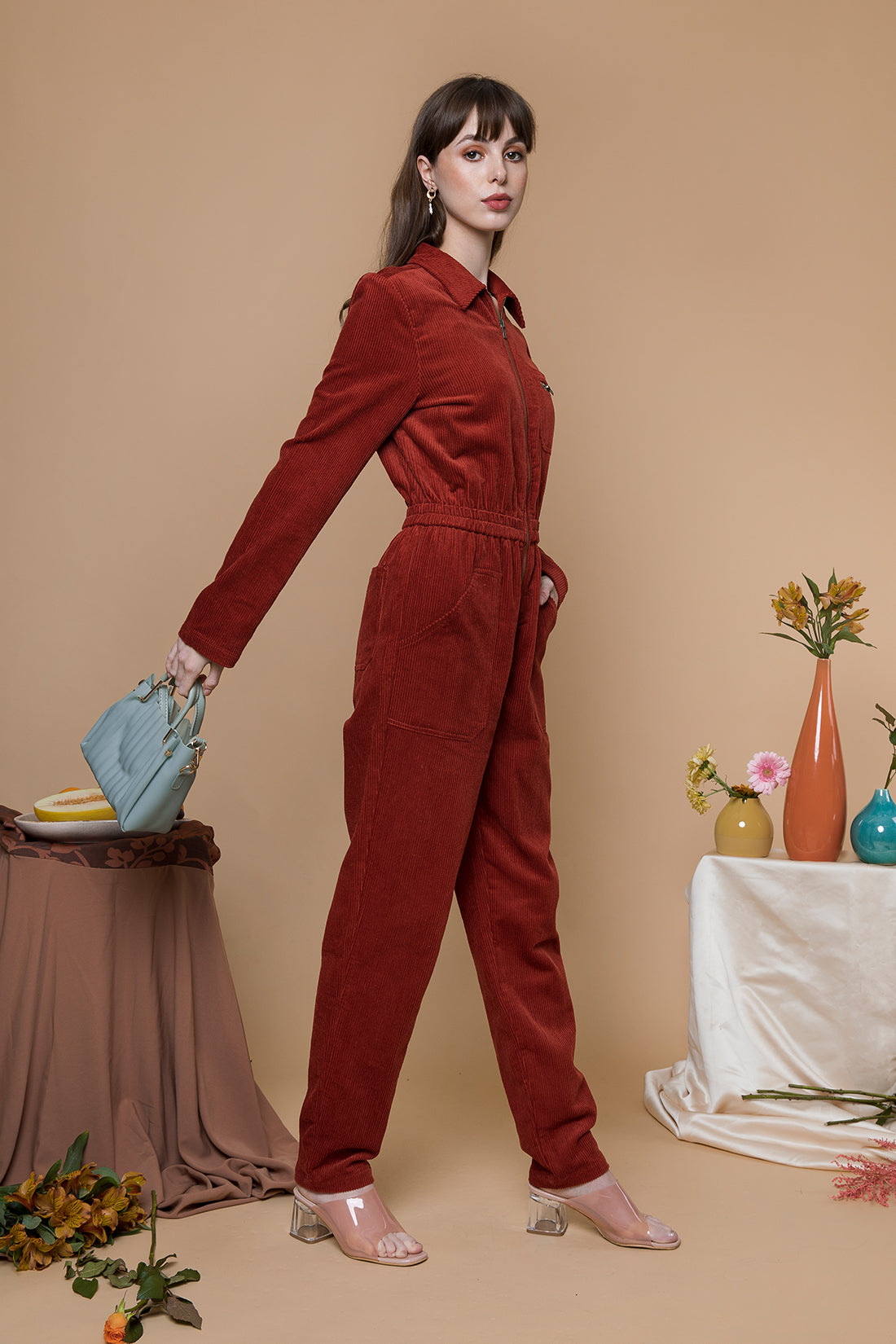 Cord Jumpsuit - Sugar + Style