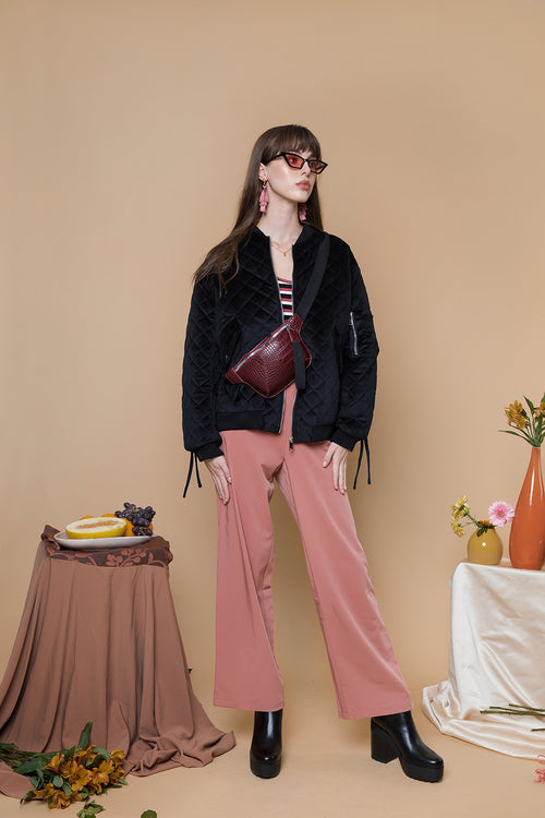 Slight Flare Tailored Trousers