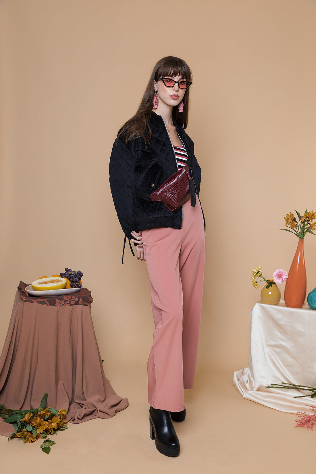 Slight Flare Tailored Trousers - Sugar + Style