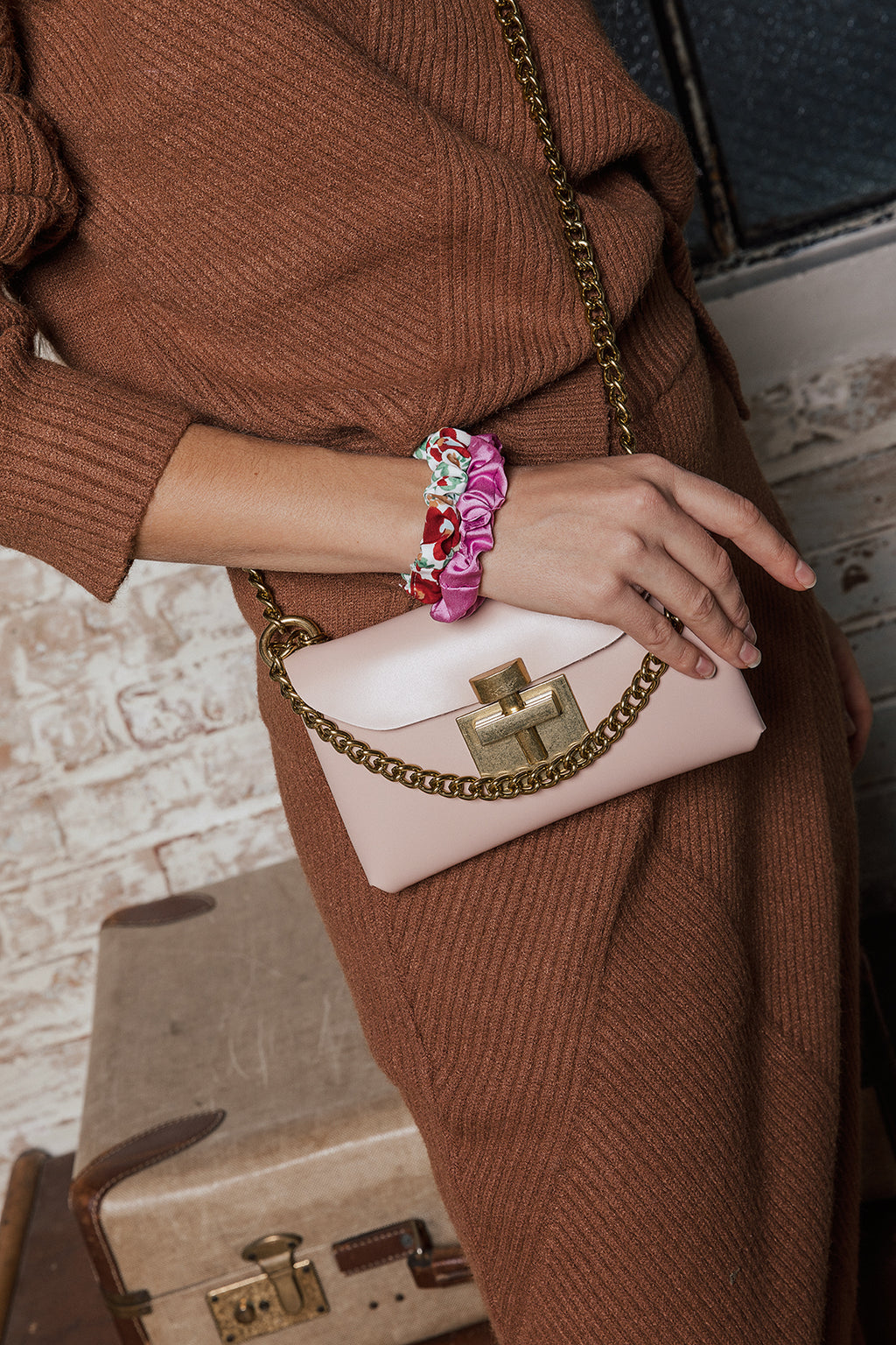 Micro Bag with Matte Gold Chain and Buckle - Sugar + Style