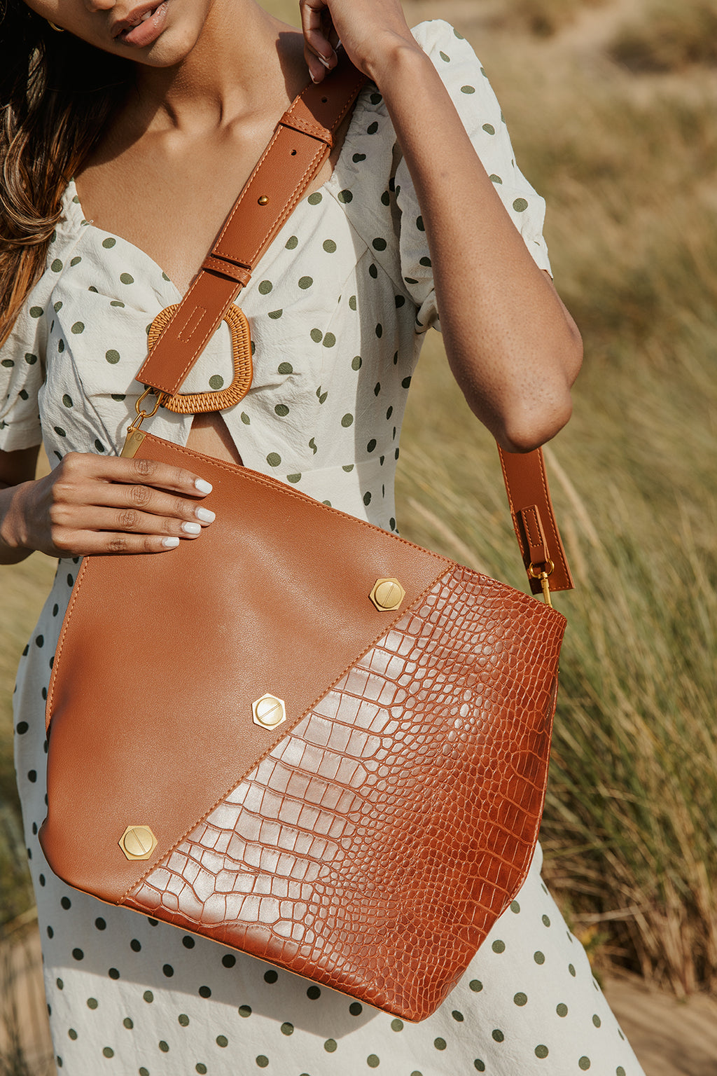 Saddle Stud Oversize Tote Bag - Sugar + Style