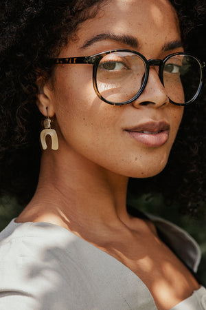 Rounded Tortoise Shell Clear Glasses - Sugar + Style