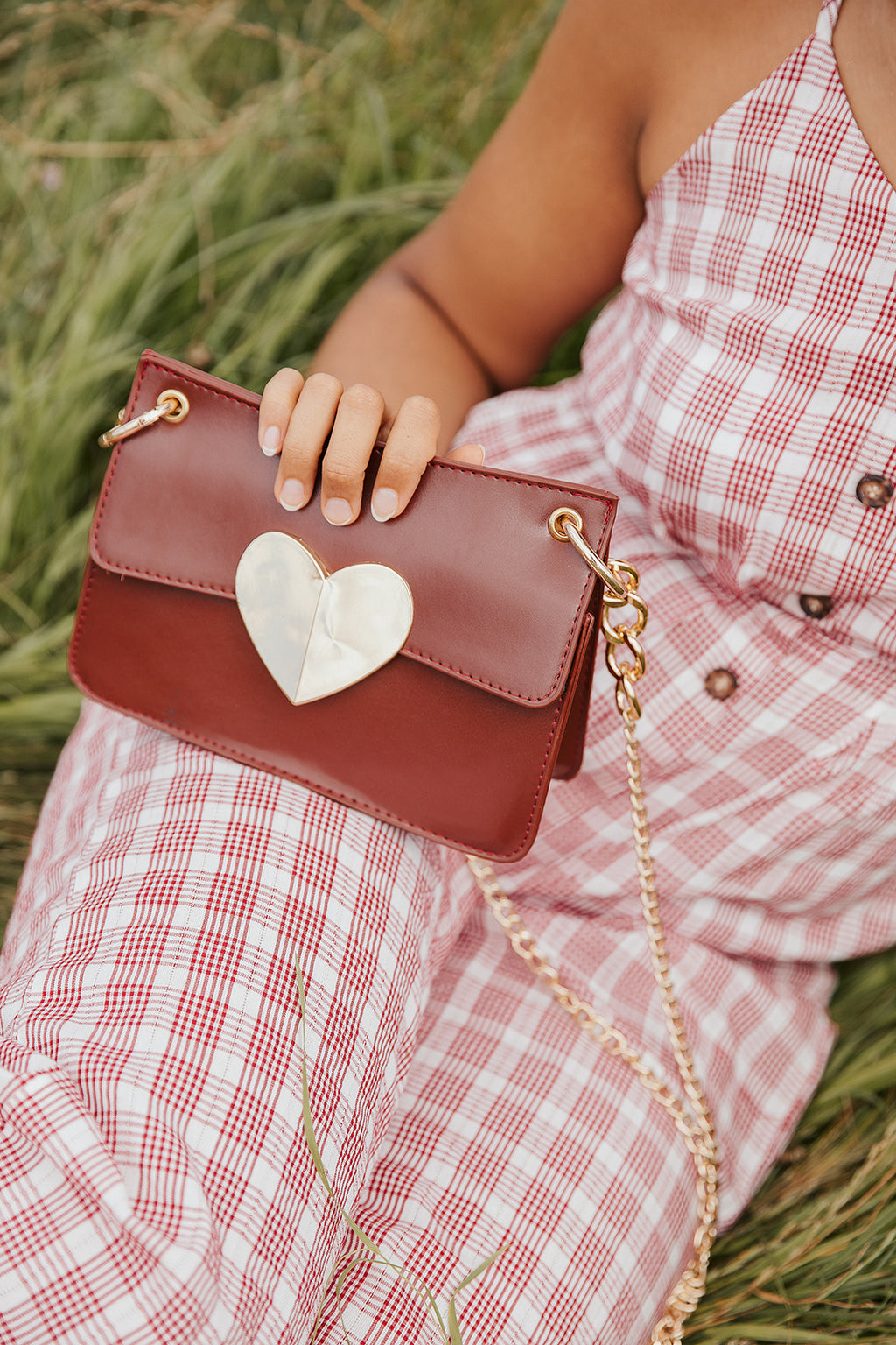 Heart Chain Crossbody Bag - Sugar + Style