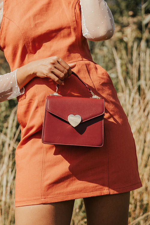 Heart Envelope Crossbody Messenger Bag