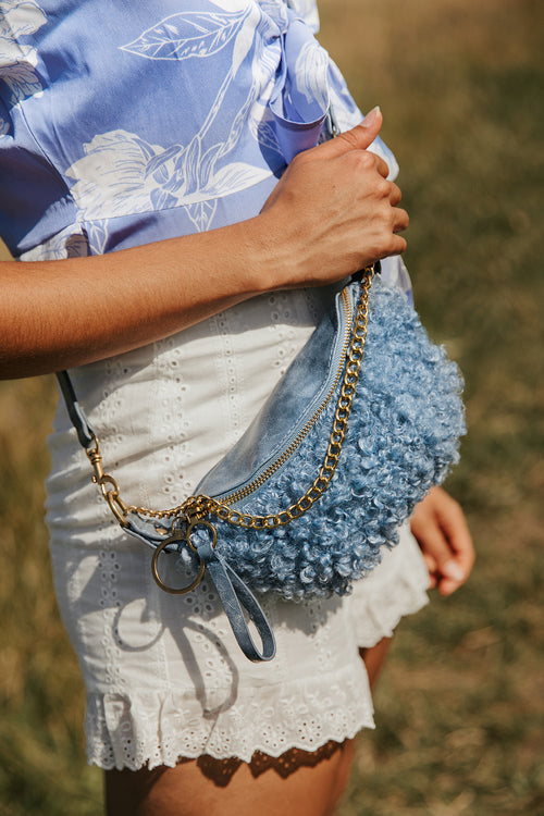 Fluffy Sheep Texture Bum Bag