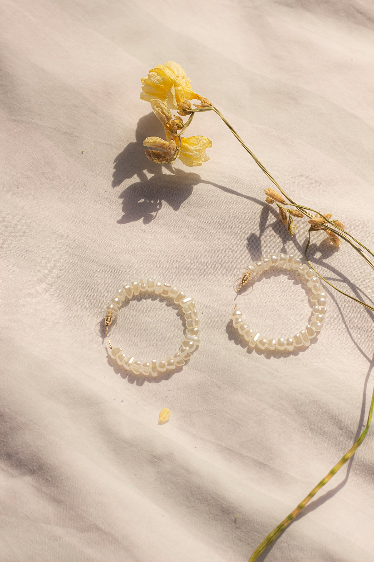 Pearl Hoop Earrings - Sugar + Style