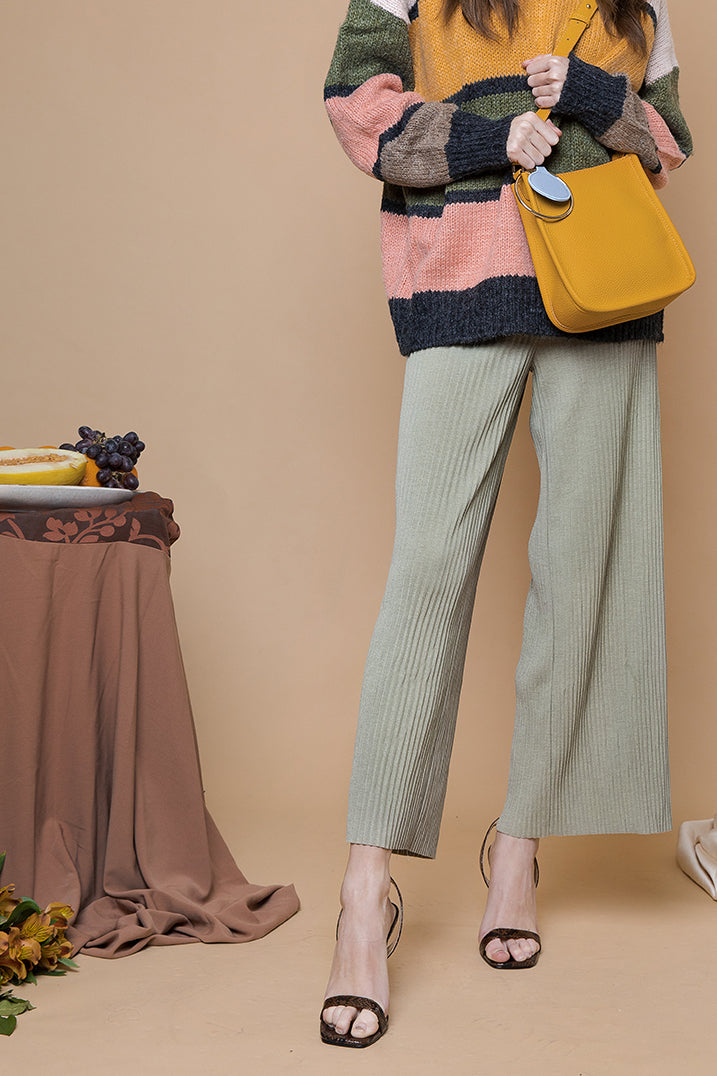 Pleated Cullotes Trousers - Sugar + Style