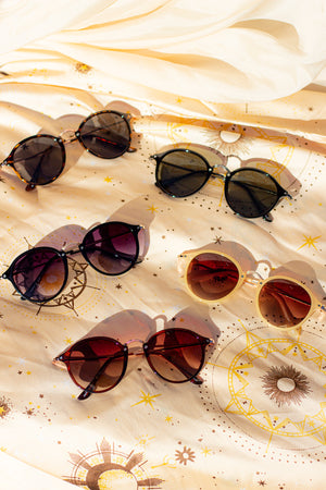 Acetate Frame Engraved Bar Sunglasses - Sugar + Style