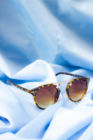 Classic Acetate Aviators with Metal Top Bar Detail - Sugar + Style